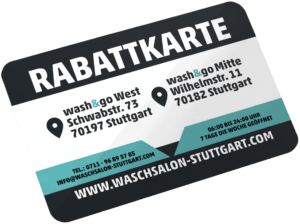 Carte de réduction wash & go Stuttgart